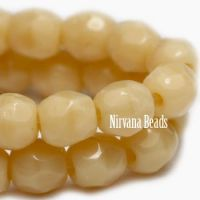 3mm Faceted Round Firepolished Bead Bone