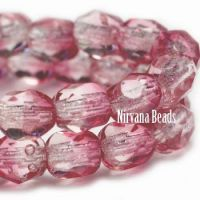 3mm Faceted Round Firepolished Bead Fuschia