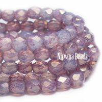 3mm Faceted Round Firepolished Bead Thistle