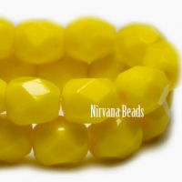 4mm Faceted Round Firepolished Bead Bright Yellow