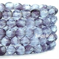 4mm Faceted Round Firepolished Bead Grape