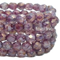 4mm Faceted Round Firepolished Bead Thistle