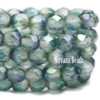 Faceted Round Firepolished Bead