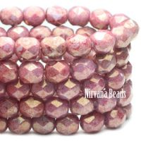 6mm Faceted Round Firepolished Bead Hyacinth