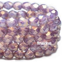 6mm Faceted Round Firepolished Bead Thistle