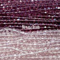 RANDOM HANKS 4mm Faceted Round FP Beads - Purple