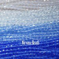 RANDOM HANKS 4mm Faceted Round FP Beads - Blue, Sapphire