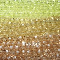 RANDOM HANKS 6mm Faceted Round FP Beads - Yellow