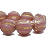 12mm Melon Dusty Rose with Gold Wash
