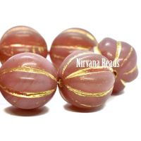 14mm Melon Dusty Rose with a Gold Wash