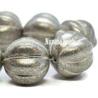 14mm Melon Antique Silver