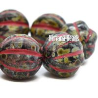 14mm Melon Black with Picasso Finish and Bright Red Wash
