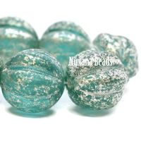 14mm Melon Turquoise with Mercury Finish