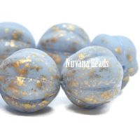 14mm Melon Periwinkle with Gold Wash