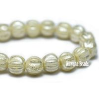 3mm Melon Yellow Ivory with Mercury Finish