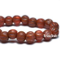 3mm Melon Alloy Orange with Brown Wash