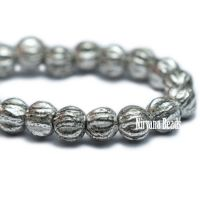 3mm Melon Antique Silver