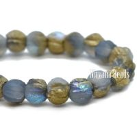 3mm Melon Cornflower with An Etched and Gold Finish