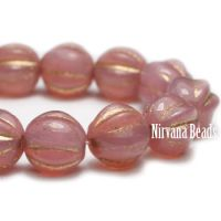 5mm Melon Dusty Rose with Gold Wash
