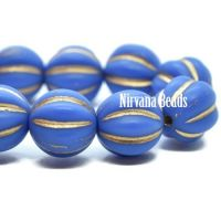 8mm Melon Indigo with Gold Wash