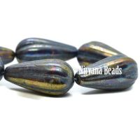 22x11mm Melon Drop Indigo with a Bronze and a Metallic Purple Finish