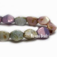 5mm Pinch Bead Bead Mix Of Grape, Apricot, Willow and Medium Sky Blue with Picasso Finish