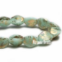 5mm Pinch Bead Mint with Gold Finish