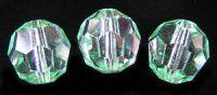 Preciosa Crystal  10mm Light Emerald