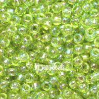 6/0 TOHO Round Lime Green Trans-Rainbow