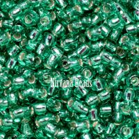 6/0 TOHO Round Emerald Silver-Lined