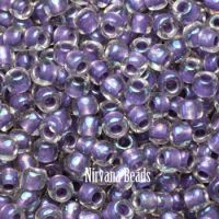 6/0 TOHO Round Rainbow Crystal/Metallic Purple Lined