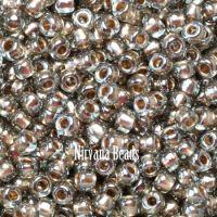 6/0 TOHO Round Black Diamond Gold-Lined