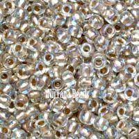 6/0 TOHO Round Crystal Gold-Lined Rainbow