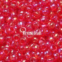 8/0 TOHO Round Trans-Rainbow Siam Ruby