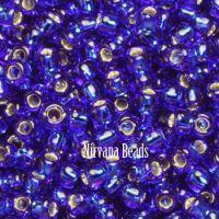 8/0 TOHO Round Cobalt Silver-Lined
