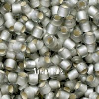 8/0 TOHO Round Black Diamond Silver-Lined Frosted
