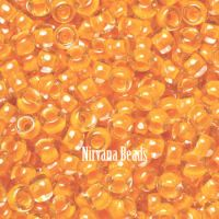 8/0 TOHO Round Tangerine Luminous Neon