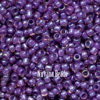 8/0 TOHO Round Rosaline/Opaque Purple Line Rainbow