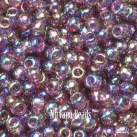 11/0 TOHO Round Amethyst Med Trans-Rainbow
