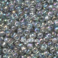 11/0 TOHO Round Black Diamond Trans-Rainbow