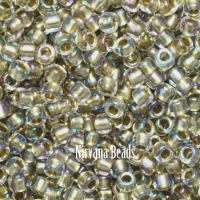 11/0 TOHO Round Crystal/Gold Lined