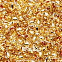11/0 TOHO Round Crystal 24K Gold Lined