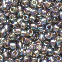 11/0 TOHO Round Black Diamond Gold-Lined Rainbow