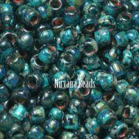 8/0 TOHO Round Capri Blue Picasso - Hybrid