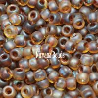 11/0 TOHO Round Natural Picasso Frosted