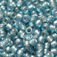 8/0 TOHO Round Aqua/Tin-Lined