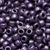 8/0 TOHO Round Hybrid Metallic Suede - Purple