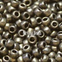 8/0 TOHO Round Gold - HYBRID Metallic Suede