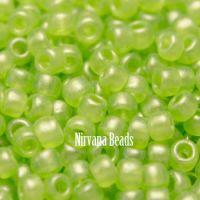 6/0 TOHO Round Metallic Green Hybrid