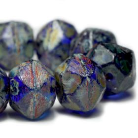 10mm English Cut Sapphire with Heavy Picasso Finish